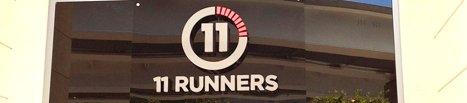 11 Runners Sign by King Signs Miami