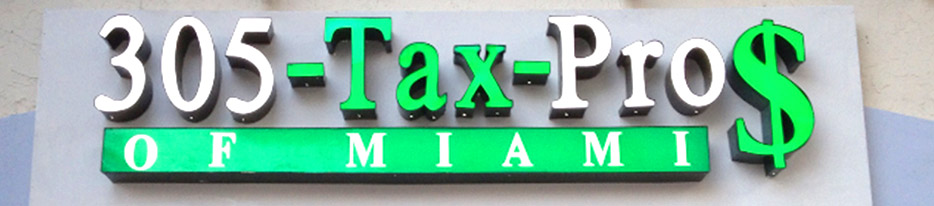 305 Tax Pros Signs by King Signs Miami